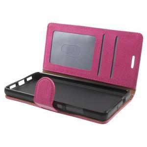 Clothy PU kožené pouzdro na mobil Huawei P8 Lite - rose - 5