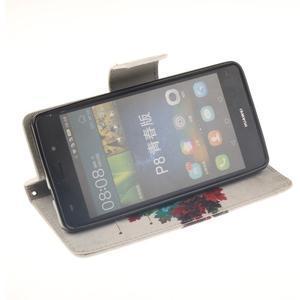 Leathy PU kožené puzdro na Huawei P8 Lite - farebný strom - 5