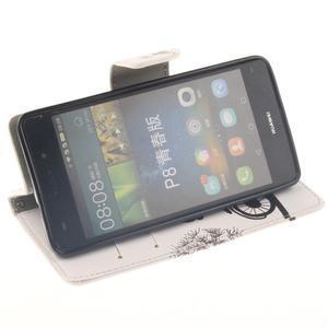 Leathy PU kožené puzdro na Huawei P8 Lite - láska na bicykli - 5