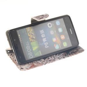 Leathy PU kožené pouzdro na Huawei P8 Lite - leopard - 5