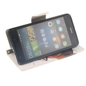Leathy PU kožené pouzdro na Huawei P8 Lite - magický vlk - 5