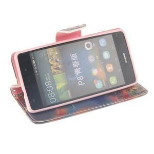 Leathy PU kožené pouzdro na Huawei P8 Lite - podzimní zátiší - 5