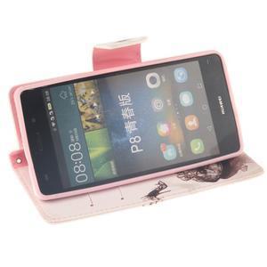 Leathy PU kožené pouzdro na Huawei P8 Lite - pekelný střevíc - 5