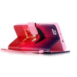 Picture PU kožené pouzdro na Huawei P8 Lite - láska v dešti - 5