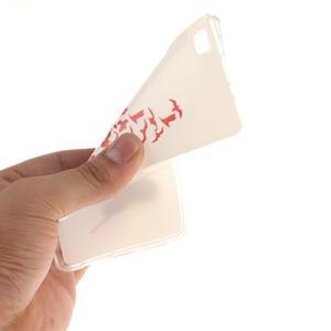 Flexi gelový obal na mobil Huawei P8 Lite - peříčko - 5