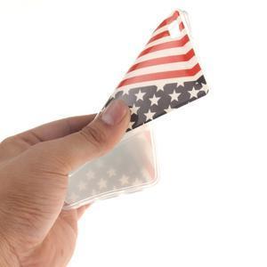 Flexi gelový obal na mobil Huawei P8 Lite - US vlajka - 5