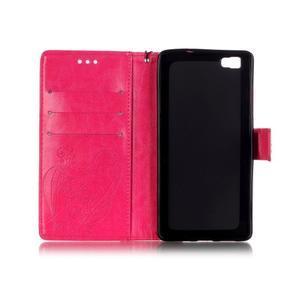 Magicfly PU kožené pouzdro na Huawei P8 Lite - rose - 5