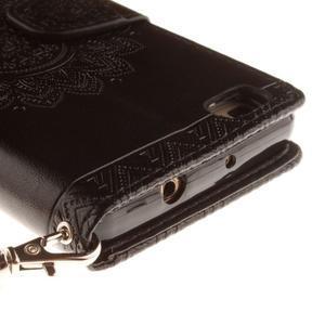 Mandala PU kožené puzdro na mobil Huawei P8 Lite - čierne - 5
