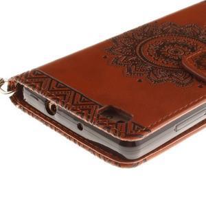 Mandala PU kožené pouzdro na mobil Huawei P8 Lite - hnědé - 5