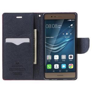 Diary PU kožené pouzdro na mobil Huawei P9 - rose - 5