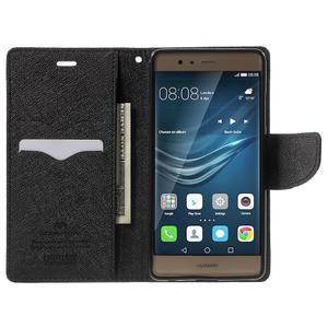 Diary PU kožené pouzdro na mobil Huawei P9 - černé - 5