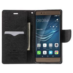 Diary PU kožené pouzdro na mobil Huawei P9 - hnědé - 5