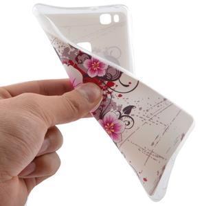 Ultratenký gelový obal na Huawei P9 Lite - květina - 5