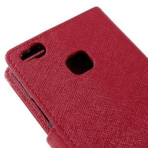 Easy peněženkové pouzdro na mobil Huawei P9 Lite - červené - 5