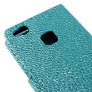 Easy peňaženkové puzdro na mobil Huawei P9 Lite - modré - 5