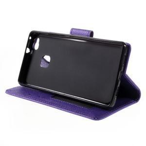 Easy peňaženkové puzdro na mobil Huawei P9 Lite - fialové - 5
