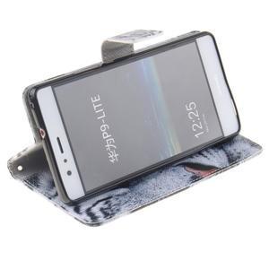 Floaty peňaženkové puzdro na mobil Huawei P9 Lite - tiger - 5