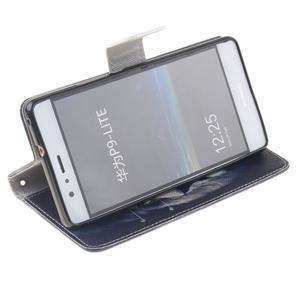 Floaty peněženkové pouzdro na mobil Huawei P9 Lite - lev - 5