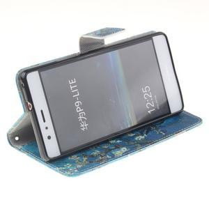 Floaty peněženkové pouzdro na mobil Huawei P9 Lite - kvetoucí strom - 5