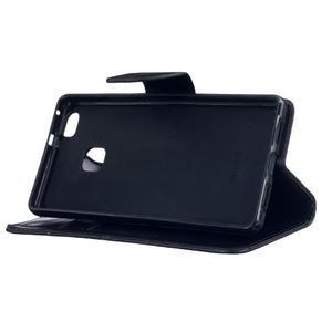 Wall PU kožené pouzdro na Huawei P9 Lite - černé - 5