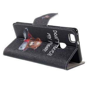 Richi PU kožené puzdro na Huawei P9 Lite - medvedík - 5