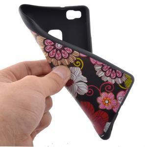 Softy gelový obal na mobil Huawei P9 Lite - květiny - 5