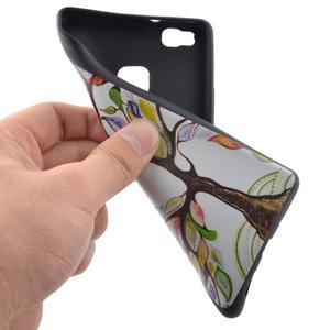 Softy gelový obal na mobil Huawei P9 Lite - barevný strom - 5