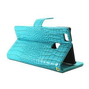 Croco peněženkové pouzdro na mobil Huawei P9 Lite - modré - 5