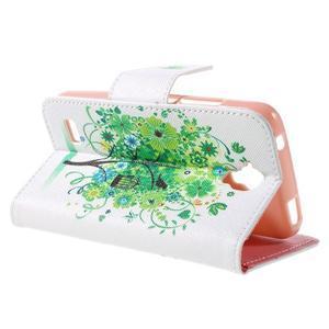 Emotive PU kožené puzdro na Huawei Y5 - zelený strom - 5