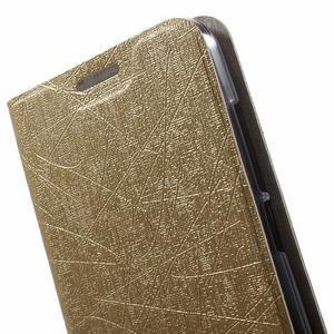 Lines knížkové pouzdro na Huawei Y5 a Y560 - zlaté - 5