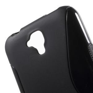 S-line gelový obal na mobil Huawei Y5 a Y560 - černý - 5