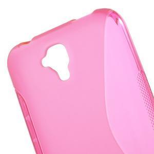 S-line gelový obal na mobil Huawei Y5 a Y560 - rose - 5