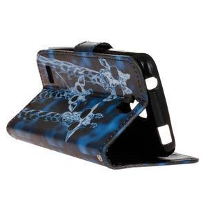 Stylové peněženkové pouzdro na Huawei Y5 a Y560 - žirafí mafie - 5