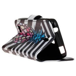 Štýlové peňaženkové puzdro na Huawei Y5 a Y560 - ananás - 5