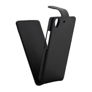 Černé flipové PU kožené pouzdro na Huawei Y6 - 5