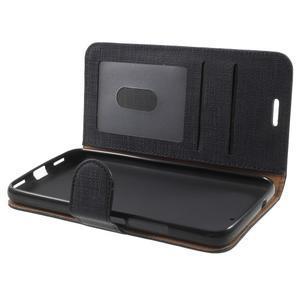 Clothy PU kožené pouzdro na Huawei Y6 - černé - 5