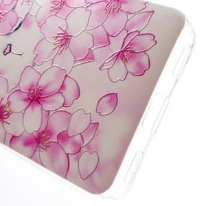 Softy gelový obal na mobil Huawei Y6 - květy svěstky - 5