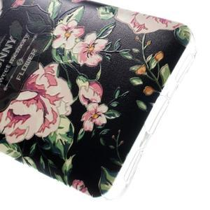 Softy gelový obal na mobil Huawei Y6 - květina na černém pozadí - 5