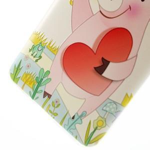 Softy gelový obal na mobil Huawei Y6 - zamilované prasátko - 5