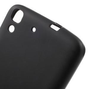 Matný gelový obal na mobil Huawei Y6 - černý - 5