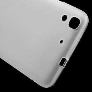 Matný gelový obal na mobil Huawei Y6 - transparentní - 5