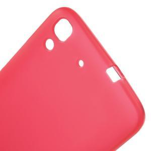 Matný gelový obal na mobil Huawei Y6 - červený - 5