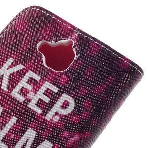 Emotive peňaženkové puzdro na mobil Huawei Y6 Pro - Keep Calm - 5