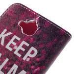 Emotive peňaženkové puzdro na mobil Huawei Y6 Pro - Keep Calm - 5/7