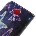Emotive peněženkové pouzdro na mobil Huawei Y6 Pro - kouzelní motýlci - 5/7