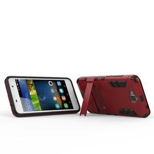 Outdoor odolný obal na mobil Huawei Y6 Pro - červený - 5