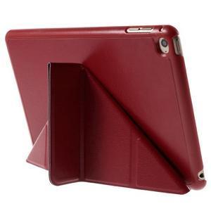 Origami polohovateľné puzdro pre iPad mini 4 - červené - 5