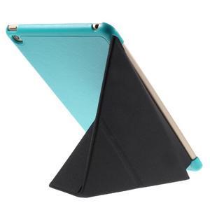 Origami polohovateľné puzdro pre iPad mini 4 - svetlomodré - 5