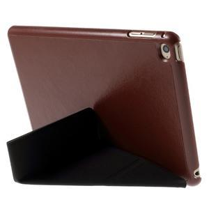 Origami polhovatelné pouzdro na iPad mini 4 - hnědé - 5
