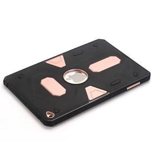 Outdoor dvoudílný gélový/plastový obal pre iPad mini 4 - ružovozlatý - 5